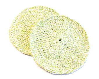 Dream Twists Crocheted Round Dish Cloths-Pair