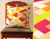 Lattice Pillow Cover - Modern geometric colorful pillow cover great for housewarmings.