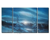 Snow covered mountain painting