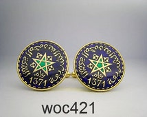 Morocco coin cufflinks 20mm