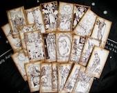 SMALL SIZE Pocket Tarot Card Deck, 22 card Major Arcana, Miniature, Vintage, Gypsy, Fortune Teller