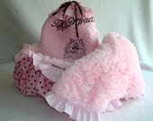 Shopping Cart Cover with Blanket - Pink Shaggy Minky - Dog Cart Cover  - Personalized