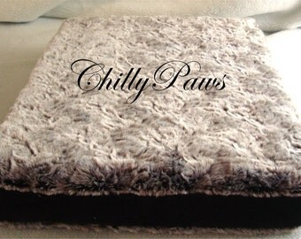 Dog Bed -Dog Crate Pad - Custom Pillows - memory foam pillow - Includes Embroidered Personalization