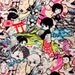 Kawaii Japanese cotton fabric yardage Samurai Boys in bright colors