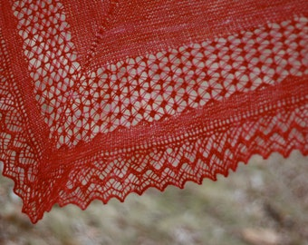Knitted Lace Merino Shawl