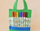 Children's Art Supply Tote Crayon Bag READY to Ship ARTOTE MINI in Like Riding a Bike