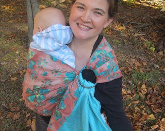 Ring Sling - Reversible Silk and Cotton Baby Carrier - Signature Series - DVD included - large shop selection