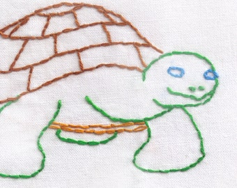 Turtle Hand Embroidery Pattern