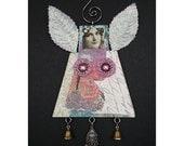 Christmas Angel Ornament - Mixed Media 2