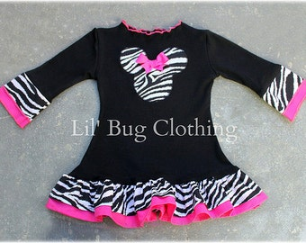 Custom Boutique Clothing Black Knit Minnie Mouse Girls Dress