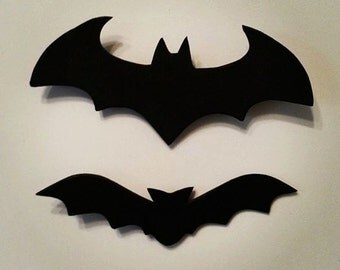 25 black bat foam cut outs bat party halloween decorating halloween bat - Etsy Halloween Decorations