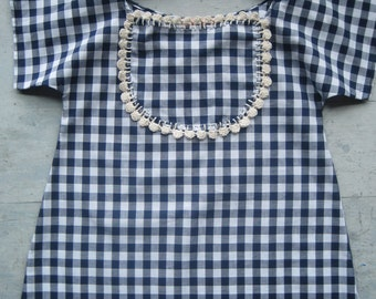 Sale AnaisKids Nanish Dress-Gingham with Indigo  or Gingham Bloomers