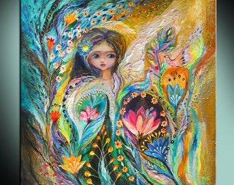 Fairy Hannah: Poster Art Print Illustration Acrylic Painting fairy print fantasy Painting Wall Decor Wall hanging Wall Art gift for girl
