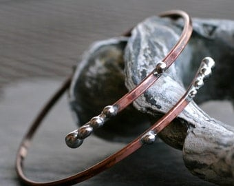 studded upper arm band rustic copper adjustable armlet arm cuff patina boho rocker jewelry bicep cuff silver metal bracelet STUDDED ARM BAND
