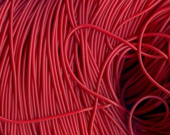 2mm  Cherry Red Tubing