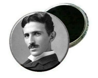 "Magnet - Nikola Tesla 2.25"" Image close up"