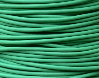 Round Leather Cord 2mm MINT 18 feet - 6 yards - Low Shipping
