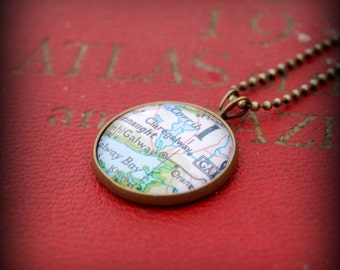Galway Map Necklace