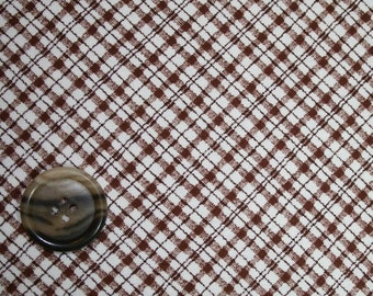 Chelsea Manor by Anne Sutton Plaid in Brown 1946-03  by the Yard