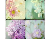 Flower Print Set, Lilac, Daisy, Lily of the Valley Photos, Flower Decor, Nursery Decor Set, Pastel Decor, Floral Art Prints