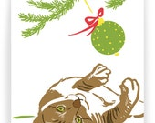 Tabby with Ornament - Boxed Set of 8 Holiday Cards