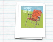 Father's Day Card - Happy Dad's Day - Featuring a vintage lawn chair