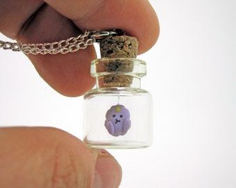 Oh My Glob Lumpy Space Princess Adventure Time Bottle Necklace