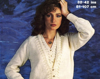 Vintage Ladies Twi Set (cardigan and Waistcoat) Knitting Pattern, 1960/1970 (PDF) Pattern, Marriner 1781