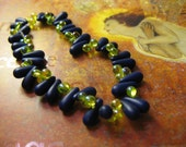 Beaded Bracelet Stretchy Caterpillar Blue Green Lime Cobalt Whimsical Fun Spring Bright