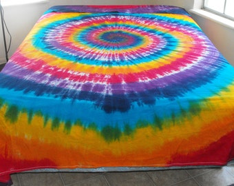 Tie Dye Full-size Flat Sheet
