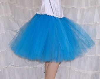 Turquoise Blue Romance Knee Length TuTu skirt adult All Sizes MTCoffinz