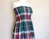 Shirred Top Shirt/Mini Dress/Skirt Strapless