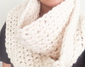 Infinity scarf cowl in sweet cream
