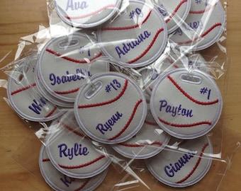 Personalized baseball bag tag soccer, softball, golf, volleyball, football, basketball
