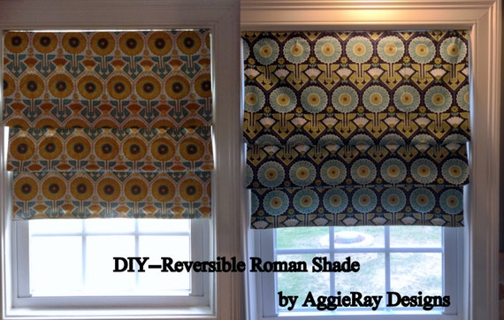 Instant download pdf sewing pattern diy reversible by aggieray for Professional window treatment patterns