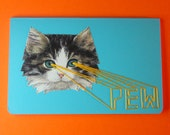 kitten lasers pocket notebook with embroidered sound effects