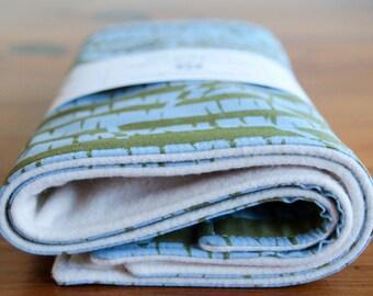 Burp Cloth SALE, Baby Burping Cloths Gift Set, Save 20%; Modern Organic Cotton Baby Burp Cloths Set in BIRCHES; Handmade Baby Shower Gift