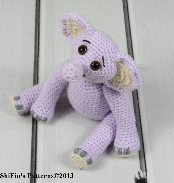 Elephant Teddy Knitting Pattern : CROCHET PATTERN For Eddie Elephant Teddy Toy & Dungarees ...