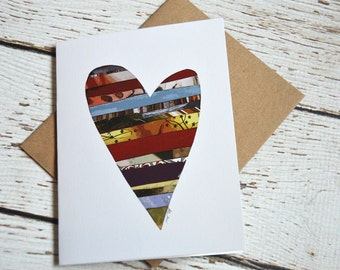 Heart Card of Original Collage