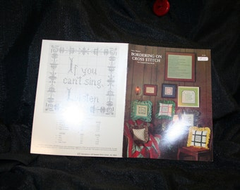 Vintage Bordering On Cross Stitch Booklet Patterns SEWBUSY12