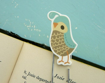 Quail Bookmark (bookclip)