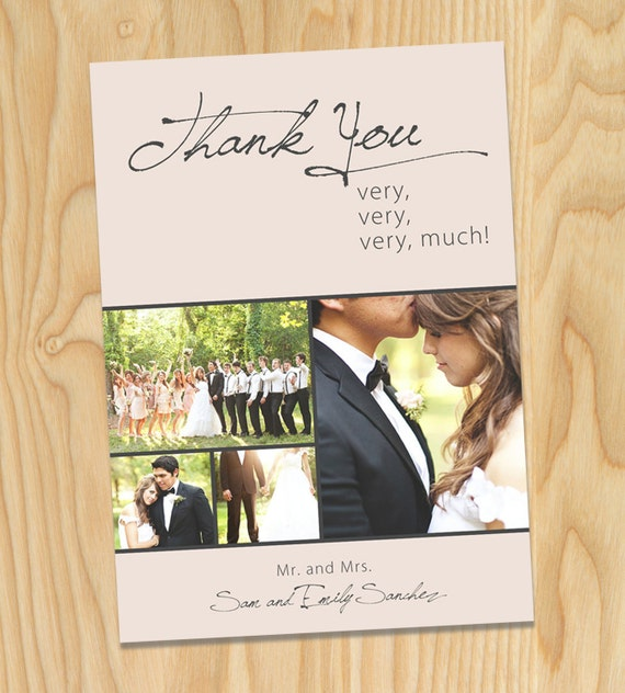 Thank You Very, Very Much - Custom Printable Photo Wedding Thank You Cards, Announcements