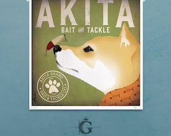 Black Dog Bait And Tackle Print