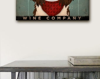 Springer Spaniel Wine Company original graphic art gallery wrap on gallery wrapped canvas by stephen fowler