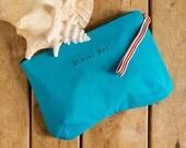 Bikini Bag, water resistant in turqouise