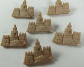 Beach Sand Castle Novelty Buttons