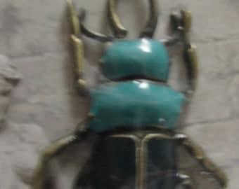 Manor House Enamel Beetle Bug Pendant