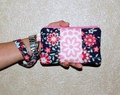 Memento and Wall Flower - Wristlet Purse with Removable Strap and Interior Pocket