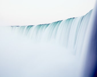 Extra Large Wall Art Nature Photography - Niagara Falls Waterfall Photography - Teal Minimal Art - Serenity - Bedroom - Soothing Zen Print
