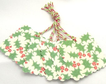 Holly Jolly Gift Tags - Set of 8 Holiday/Christmas Tags - LAST SET